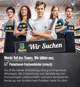 Ausbildung Fleischrei Fachverkäufer Einzelhandel - EDEKA Raber